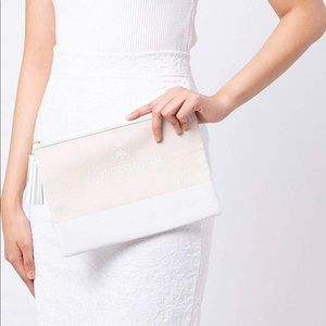 Kay Spade Large Tassel Clutch Pouch Ivory/NWT